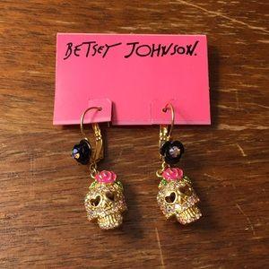 Betsey Johnson sugar skull earrings